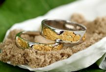 "Wedding Sets / Wedding Rings for Him & Her. All custom made at Alaskan Gold Rush Fine Jewelry. Rings can be bought individually ""Just for him"" or ""Just for her"" or together as a matching set."