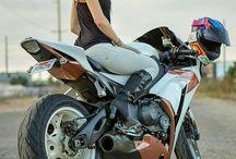 Nice Women And Bike