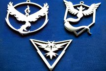Pokemon GO / Pokemon GO teams Valor Mystic and Instinct logos. Great gifts for pokemon go trainers