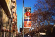 Cartellonistica e temporanea / Posizionamento di cartelli in maniera fissa o temporanea sulle strade a più alto passaggio