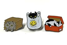 Enamel Pins: Cats