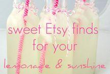 lemonade and sunshine party / sweet finds for your lemonade and sunshine party. For more inspiration visit www.mylittlechickblog.com