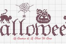 Halloween  / Cross stitch