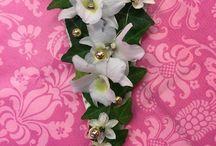 Kukkakorut, floral jewerly / Tekemiäni kukkakoruja