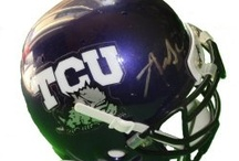 TCU Horned Frogs Football Autographed NCAA Collectibles / Welcome to my selection of autographed TCU Horned Frogs footballs & more. We at Southwestconnection-Memorabilia offer a wide variety of autographed NCAA collectibles including Footballs, Full Size Helmets, Mini Helmets, Jerseys, Pylons & Lithos! Please check out my website: www.AutographedwithProof.com for additional autographed memorabilia, including MLB, NFL, NHL, NBA and more! All items include photographic proof of our encounter with the athlete to insure authenticity!