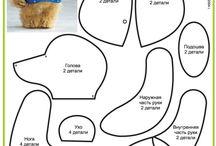 Teddys / teddy macik patterns szabásminták