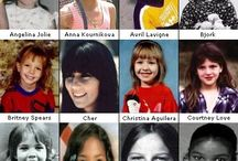 Famous people when they were younger / by Diane Whitney