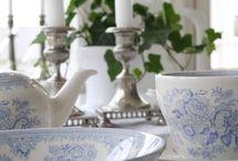 English pottery style Wedding / classic, elegant, vintage, new wedding theme, blue, pink, english roses.