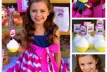 Girl pink minion despicable me party theme