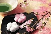 Japanese Sweets / Cherry blossom inspired wagashi (Japanese sweets).