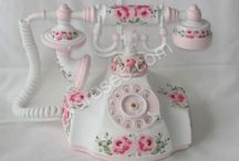 Hello, I Love You ♫♫ / I LOVE interesting telephones. I once saw an oak telephone booth in a furniture store, and fell in love with it. Since then, I have always had pretty, different telephones in my house. / by ✿Biℓℓie Gℓor