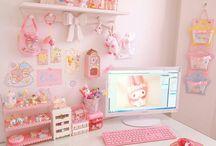 Pink anime room