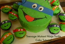 Ninja Turtle Party/Cake - Reaghan 5th?