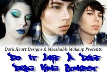 """Do It Like A Dude Drag King Contest Entries / A collective of entries in the Dark Heart Designs """"Do It Like A Dude"""" drag king contest. / by Dark Heart Beauty Art"""
