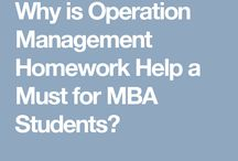 Operation Management Help