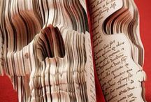 Art of Book Sculpture / Carved books