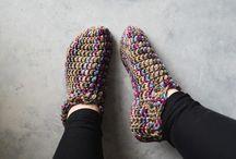 One hour crochet slippers