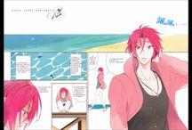 """Sosuke x Rin    Doujinshi """"Free! Iwatobi Swim Club"""" : Yaoi World / Images sur le thème du couple yaoi (ou boy's love): Sousuke Yamazaki x Rin Matsuoka Anime : Free iwatobi swim club"""