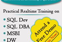 SQL School Trainings and Projects with Jobs / SQL School Trainings, SQL School Projects, Reviews and Jobs / Placements  This board is completely dedicated to Microsoft SQL Server. SQL DBA and MSBI Trainings and related technical services.  More details @ http://www.sqlschool.com