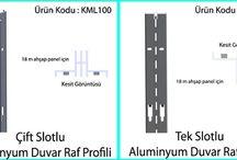 Çift Tek Slot Aluminyum Mağaza Profilleri