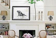 Fireplace - painted brick