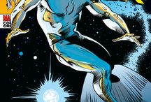 The Silver Surfer / ...is a fictional superhero appearing in American comic books published by Marvel Comics and was created by Jack Kirby, first appeared in the comic book Fantastic Four #48, published in 1966.