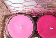 Candele nella rete / Candele  colorate - neutre - profumate racchiuse nella rete - avvolte da rami o da stoffe per rendere ancora più belli i momenti di relax