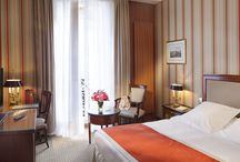 Rooms / Our 48 rooms and suites, decorated in English style, are offering high standard amenities: air conditioning, sound proofing, individual safety box, mini bar, television by satellite, & WIFI connection. All bathrooms are in marble and equipped with bath, shower, and hair dryer.