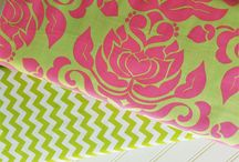 Riley Blake Designs, Extravaganza Damask Pink and Lime