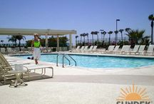 Commercial Concrete Pool Deck / Beautiful, Functional & Slip-free commercial concrete pool decks