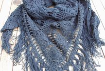 Crochet and knit, scarfs and cowls