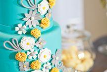 Aqua + Yellow Inspiration Board / What Are We Pinning? Aqua + Yellow Inspiration #aqua #yellow