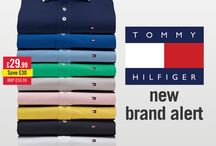 NEW BRAND ALERT - Tommy Hilfiger! /  Shop our collection of colourful polos, all half price > http://bit.ly/1JQC3oa
