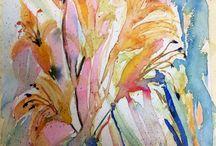 Watercolor flowers / Watercolor by Dana Marten