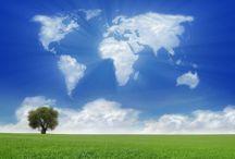 World Map Clouds SB