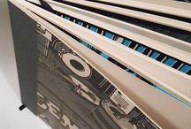 Sketchbooks by Zellerluoid / sketchbook made out of testprints.