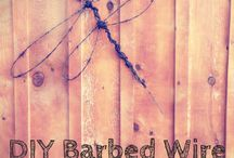 Barbed wire diy