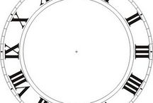Printable clock faces