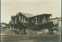 1906 San Francisco Earthquake / Photographs of streets and buildings in San Francisco, California, illustrating the destruction caused by the 1906 earthquake, held the DeGolyer Library, SMU. View the full set at: http://digitalcollections.smu.edu/cdm/search/collection/wes/searchterm/Ag1982.0186sx/ / by CUL Digital Collections, Southern Methodist University