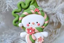 Christmas polymer clay ornaments