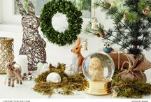 Festive Season Decorations / With Christmas around the corner we are sourcing some of our favourite decorations. From tress to wreaths and hanging baubles - we are getting in the festive spirit!  / by The Pretty Blog