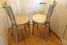 2 nice kitchen chairs in good condition / (30$)I have a really nice pair of chairs in good condition,the cushion/seat need to be changed or cleaned,the mesurements are 19/33 inches high x 16 inches wide x 16 inches depth,ask us what else we have for sale...we have a lot,i am in etobicoke area(golfdown dr and islington),(look in your spam folder for my reply,sometimes it goes in there)thank you 'No Pay Pal'