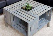 trähyllor/bord