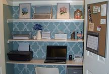 Cloffice Inspiration / Cloffice - The closet converted into a hideable office and craft space. Great for small spaces!