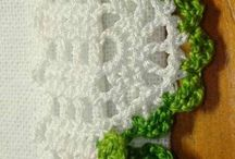 Yeşil krem kenar danteli