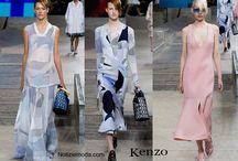 Kenzo / Kenzo collezione e catalogo primavera estate e autunno inverno abiti abbigliamento accessori scarpe borse sfilata donna.