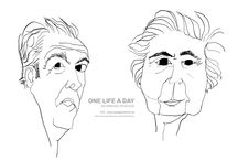 2016 . One Life a Day / 2016 . One Life a Day -  As minhas pessoas -   #drawing #onelifeaday #bw #indianink