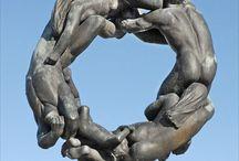 Gustav Vigeland Sculpture Park, in Oslo, Norway