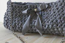 Fettuccia borse / T-shirt yarn trapillo zpaghetti bags