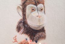 Art by Eli Bichita ❤️✨ pastel, watercolor, pencils drawings